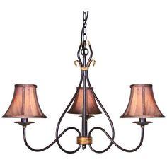 Elstead Rust/Gold Windermere wrought iron 3 light chandelier from Lights 4 Living Wheel Chandelier, Lantern Chandelier, Ceiling Chandelier, Antique Chandelier, Chandelier Shades, Ceiling Lights, Lounge Lighting, Home Lighting, Residential Lighting