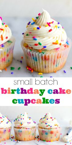 Birthday Cupcakes With Sprinkles A Small Batch Cupcake Recipe For Celebrating