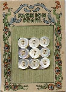 vintage buttons card -