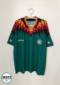 e9330f1a3 GERMANY 1994 96 Away Football Shirt XL Soccer Jersey ADIDAS Vintage  DEUTSCHLAND  adidas  Jerseys  SoccerShirt  Footballshirts  Germany