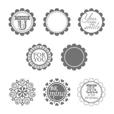 "This Stampin' Up! stamp set is called A Round Array.  It sells for $14.95 and coordinates with the 7/8"" scallop circle punch."