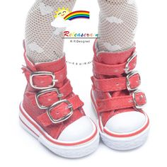 Buckles-Ankle-Leather-Sneakers-Boots-Shoes-Red-for-Yo-SD-Dollfie-12-Kish-dolls