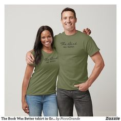 The Book Was Better tshirt in Gray - Book Shirts Book Shirts, Tee Shirts, Dad To Be Shirts, Shirts For Girls, Teenage Daughters, Best Friends For Life, Fit Car, Dad Humor, Unisex