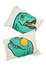 Dino What You Did Last Slumber Pillow Sham Set | Mod Retro Vintage Decor Accessories | ModCloth.com  Could be a gift idea too cx