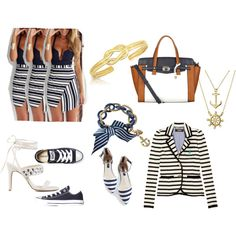 nautical by ursounique on Polyvore featuring Juicy Couture, Converse, Nly Shoes, Lipsy, Betsey Johnson and Bling Jewelry