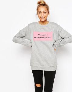 Adolescent Clothing | Adolescent Clothing Boyfriend Sweatshirt With Fun Print at ASOS