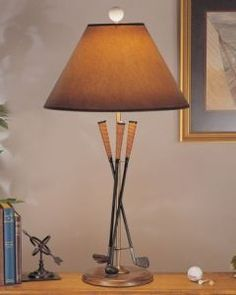 Golf Club Lamp!!! Basement theme