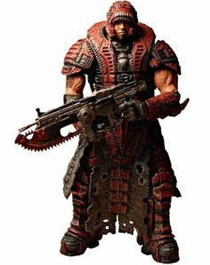 """Gears of War NECA Series 4 Dominic Santiago Theron Disguise Figure by NECA. $15.95. For ages 17+. Size: 7 inch. Made by NECA in 2009. Facing overwhelming odds in their desperate search for the Locust Queen, Marcus and Dom suit up in Theron armor to attempt a more covert approach. This figure represents Dominic Santiago from the """"Road to Ruin"""" deleted chapter from the Gears of War 2 campaign, available in the """"Dark Corners"""" add-on. For you geeks out there, take a ..."""