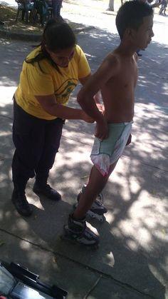 Comandos de Salvamento en actividad de patinaje en el Poli Deportivo Don Bosco San Miguel  #comandos #Chinameca #ElSalvador #SanMiguel #Yorespondo #siemprealerta #pueblos #voluntariado