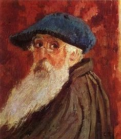Not Claude Monet Self portrait. Correction: Camille Pissaro