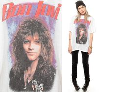 Bon Jovi Shirt Vintage Slippery When Wet Tour Tshirt by ShopExile, $67.00