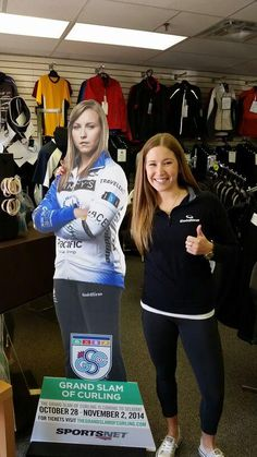 Kaitlyn found a Rachel Homan standy at a Goldline store in Manitoba and got excited. Curling Canada, Amazing Women, Beautiful Women, Hey Man, Paint Colours, Get Excited, Curls, Lady, Sports