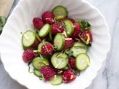 Cucumber Raspberry Salad