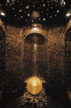 black with gold glitter shower bathroom