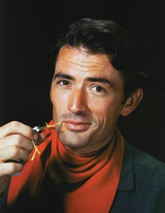 """Hollywood's Kodachrome Era (Vanity Fair):  Gregory Peck (probably publicity shot for """"Duel In The Sun"""")"""