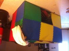 Fort-building 101: find any available materials, a smidge of imagination, and get to building!