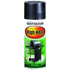 Rust-Oleum Specialty 12-oz. Bar-B-Que Black Satin High Heat Spray Paint-7778830 at The Home Depot