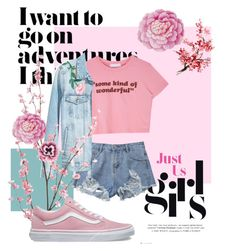 """""""Pink panther"""" by ookatrawinchesteroo on Polyvore featuring Pier 1 Imports, Vans, Ballard Designs and Nourison"""