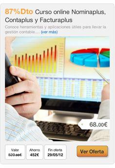 87%Dto Curso online Nominaplus, Contaplus y Facturaplus