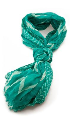 Beach Chevron Scarf, Teal