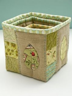 quilted basket to make. so cute, yeps I am gonna have to make one...or more :)