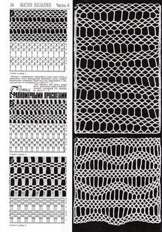 "Photo from album ""Дуплет on Yandex. Crochet Stitches Chart, Knitting Stiches, Crochet Doily Patterns, Crochet Diagram, Freeform Crochet, Filet Crochet, Stitch Patterns, Crochet Men, Crochet Lace"