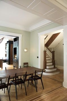 """Brooklyn-based Elizabeth Roberts describes a recent remodel in the heart of the historic district in Park Slope as """"a formal house for an informal couple and their children."""" (jewelry designer Page Sargisson and her husband, Peter Robbins, a businessman and potter)... what a great, refined look!"""