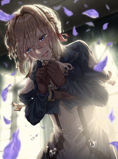 Garden Art Drawing Anime Girls 47 Ideas – About Anime Anime Girl Crying, Sad Anime Girl, Manga Girl, Anime Art Girl, Anime Shojo, Manga Anime, Anime Naruto, Anime Girls, Violet Evergreen