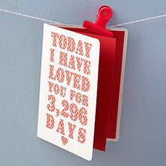 Personalised Days I've Loved You Card - cards
