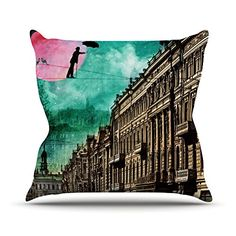 KESS InHouse SC2060AOP03 18 x 18-Inch 'Suzanne Carter Moonlight Stroll Surreal' Outdoor Throw Cushion - Multi-Colour * Learn more by visiting the image link. #GardenFurniture and Accessories