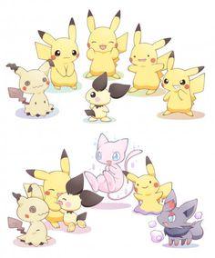 Imitation Pokemon as Pikachu Pokemon Mew, Pikachu Pikachu, Pokemon Comics, Pokemon Fan Art, Pokemon Ships, Pokemon Funny, Cool Pokemon, Cute Pokemon Pictures, Pokemon Images