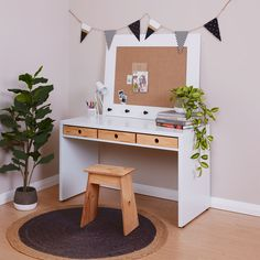 STUDYboy 3 Crate Home Desk, Play Houses, Plywood, Office Desk, Crates, Vanity, Desks, Furniture, Pine