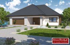 Projekt domu Oaza III NF40, wizualizacja 1 Modern Bungalow, Modern Exterior, Sweet Home, House Design, Living Room, Outdoor Decor, Scandinavian, Home Decor, Spaces