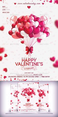 Valentines Party Day Flyer Template #design Download: http://graphicriver.net/item/valentines-party-day-flyer/10185481?ref=ksioks