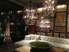 Birdcage chandeliers at flagship Restoration Hardware in ...
