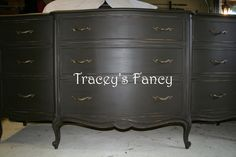 Custom Painted Dresser/Buffet/Sideboard - MADE TO ORDER. $780.00, via Etsy.