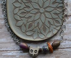 Beads and Chain Necklace with Horizontal focal | Lorelei Eurto Jewelry