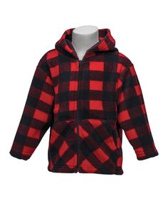 Take a look at this Red Plaid Hoodie - Infant, Toddler & Boys on zulily today!