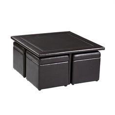 Crestfield Dark Brown Coffee Table/ Storage Ottoman Set | Overstock.com Shopping - Great Deals on Upton Home Coffee, Sofa & End Tables