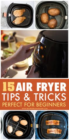 These 15 Top Air Fryer Tips make cooking delicious dishes in your Air Fryer easier, efficient and more fun! Whether you're new to the world of air frying or a seasoned pro, you'll want to keep these tips on hand for quick reference. Post also includes my favourite and most popular Air Fryer Recipes. Click through to get the super helpful air fryer tips! for beginners and seasoned pros! #airfryer #airfryertips #airfryerrecipes #airfriedfoods #kitchentips #kitchenhacks #airfried Air Fryer Recipes Snacks, Air Frier Recipes, Air Fryer Dinner Recipes, Crockpot Recipes, Cooking Recipes, Fudge Recipes, Air Fryer Cooking Times, Soup With Ground Beef, Top Air