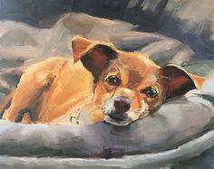 "Daily Paintworks - ""Weasel"" - Original Fine Art for Sale - © Deborah Newman"