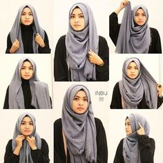 What is hijab? Hijab is the head scarf which is usually worn by the Muslim women. Stylish Hijab, Hijab Chic, Casual Hijab Outfit, Hijab Dress, Cara Hijab, Simple Hijab Tutorial, Hijab Simple, Hijab Style Tutorial, Turkish Hijab Tutorial