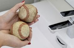 DIY Baseball Arts and Crafts Projects:  Baseball Lovers, looking for a DIY project to do during the MLB All Star Season? Turn your old baseballs into something shiny and new. Perfect for all ages.
