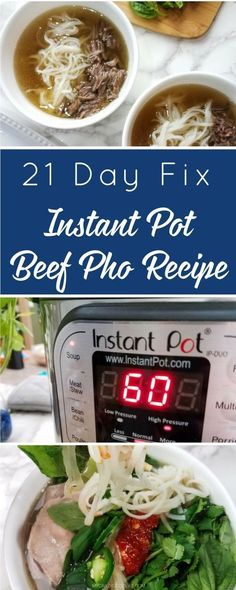 This Instant Pot Beef Pho recipe is filled with traditional Vietnamese seasonings and flavors. Homemade broth makes this recipe authentic! Instant Pot Pho Recipe, Instant Pot Dinner Recipes, Instant Pot Pressure Cooker, Pressure Cooker Recipes, Pressure Cooking, Slow Cooker, Pressure Pot, Beef Recipes, Healthy Recipes