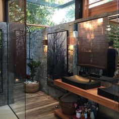 "COSHAMIE on Instagram: ""How perfect is this bathroom? Another jungle-bathroom inspo #bathroominspo . . . . . . . . #Inspire_Me_Home_Decor #coshamie…"""