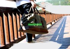 Waterproof Duffel Bag Waxed Canvas Luggage - Canvas Bag Leather Bag CanvasBag.Co