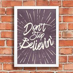 Poster Don't stop believin' - Encadreé Posters