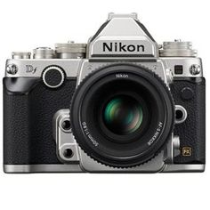 Nikon Df FX-format Digital SLR Camera Kit with AF-S NIKKOR 50mm f/1.8G Special Edition Lens, Silver $2996.95