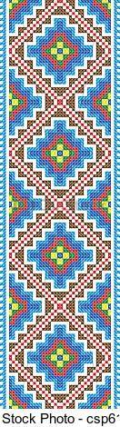 patron punto cruz - venecitas // guarda, diseño geometrico