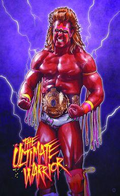 WWF World Heavyweight Champion The Ultimate Warrior Wwf Superstars, Wrestling Superstars, Wrestling Divas, Wrestling Rules, Attitude Era, Wrestling Posters, Catch, Wwe Pictures, Wwe World